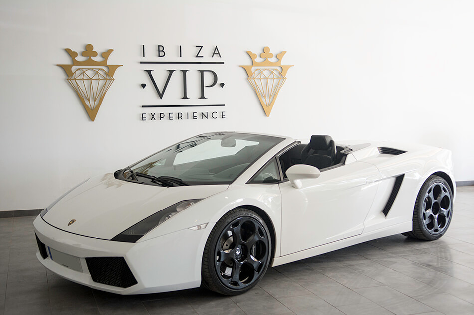 rent a lamborghini gallardo cabrio in ibiza