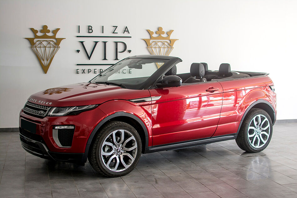 rent a range rover evoque cabrio in ibiza 280 day. Black Bedroom Furniture Sets. Home Design Ideas